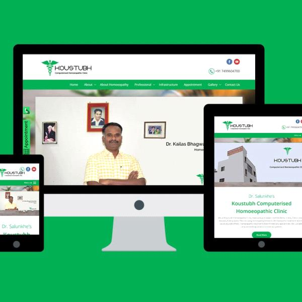 Responsive Website for Koustubh Clinic Launched
