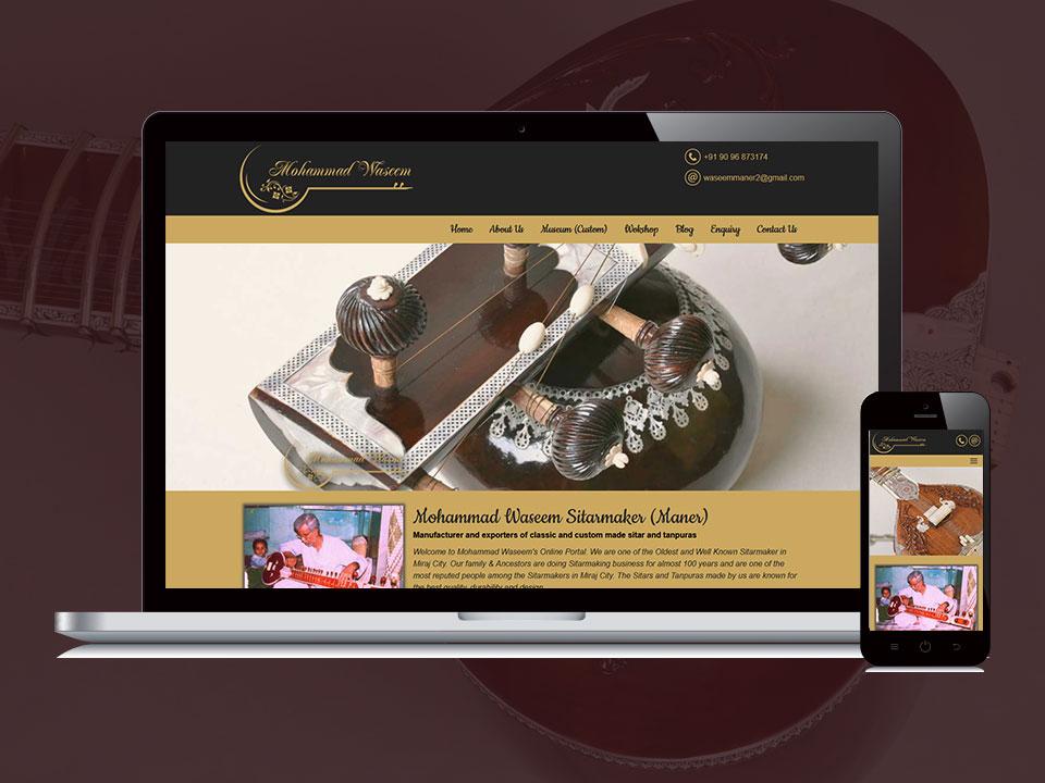 Responsive Website Design for Mohammad Waseem by Lucid Edge Tech Serv